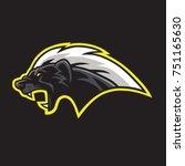 honey badger mascot logo... | Shutterstock .eps vector #751165630