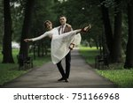 wedding  the bride and groom on ... | Shutterstock . vector #751166968