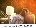 romantic relationship guy and... | Shutterstock . vector #751167598
