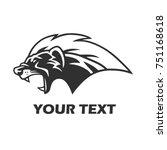 honey badger mascot logo... | Shutterstock .eps vector #751168618