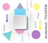 creative square headline.... | Shutterstock .eps vector #751169338
