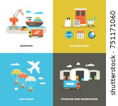 worldwide shipping logistics... | Shutterstock . vector #751171060