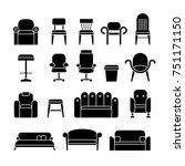 office hair  armchair  lounge ... | Shutterstock . vector #751171150