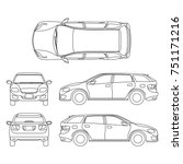 line drawing of car white... | Shutterstock . vector #751171216