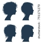 woman head silhouettes  female... | Shutterstock . vector #751171270