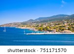 panoramic seascape  port of... | Shutterstock . vector #751171570
