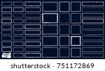 frames doodle vector. set of... | Shutterstock .eps vector #751172869