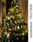 christmas tree on christmas eve | Shutterstock . vector #751172920