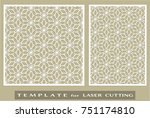 abstract cutout panels set for... | Shutterstock .eps vector #751174810