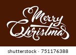 white text marry christmas | Shutterstock .eps vector #751176388