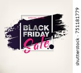 black friday sale poster with... | Shutterstock .eps vector #751181779