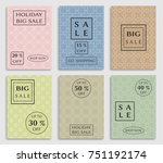 collection of sale banners ... | Shutterstock .eps vector #751192174
