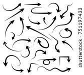 hand drawn arrow set. eps 10... | Shutterstock .eps vector #751197433