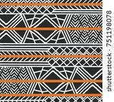 tribal ethnic colorful bohemian ...   Shutterstock .eps vector #751198078