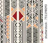tribal ethnic colorful bohemian ... | Shutterstock .eps vector #751198093