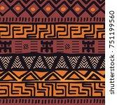 tribal ethnic colorful bohemian ... | Shutterstock .eps vector #751199560
