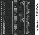 black and white tribal ethnic...   Shutterstock .eps vector #751200454