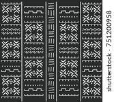 black and white tribal ethnic... | Shutterstock .eps vector #751200958
