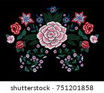 embroidery traditional pattern... | Shutterstock .eps vector #751201858
