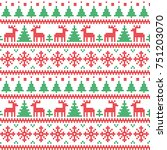 knitted christmas and new year... | Shutterstock .eps vector #751203070