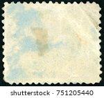 old postage stamp | Shutterstock . vector #751205440