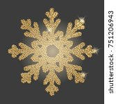 snowflake with gold glitter... | Shutterstock .eps vector #751206943