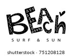 beach sun and surf typography   ...