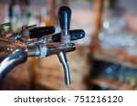 beer tap in restaurant lager... | Shutterstock . vector #751216120