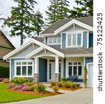 fragment of a nice house. | Shutterstock . vector #75122425
