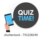 hand holding smartphone screen... | Shutterstock .eps vector #751228240