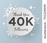 thank you 40k followers design... | Shutterstock .eps vector #751229059