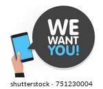 hand holding smartphone screen... | Shutterstock .eps vector #751230004