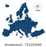 vector illustration of a map of ... | Shutterstock .eps vector #751231960
