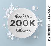 thank you 200k followers design ... | Shutterstock .eps vector #751233109