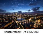 aerial view over the city of... | Shutterstock . vector #751237903