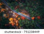 Aerial View Of Road In...