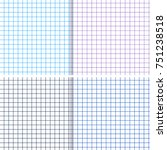 blank checked copy book sheet.... | Shutterstock .eps vector #751238518