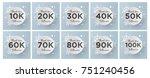 thank you followers design... | Shutterstock .eps vector #751240456