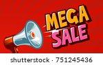mega sale  closeout  promo ... | Shutterstock .eps vector #751245436