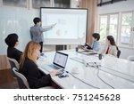 businessman standing in front... | Shutterstock . vector #751245628