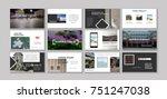 original presentation templates.... | Shutterstock .eps vector #751247038