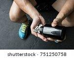 doping anabolic pills... | Shutterstock . vector #751250758