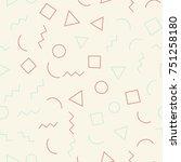 seamless memphis geometric...   Shutterstock .eps vector #751258180