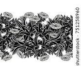 seamless monochrome pattern of... | Shutterstock .eps vector #751258960