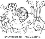 vector coloring page   success... | Shutterstock .eps vector #751262848