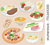 hand drawn food illustration | Shutterstock .eps vector #751265200