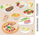 hand drawn food illustration | Shutterstock .eps vector #751265200