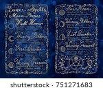 lunar magic spells on blue... | Shutterstock . vector #751271683