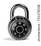 combination padlock | Shutterstock . vector #751278538