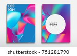 covers templates set with... | Shutterstock .eps vector #751281790
